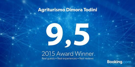 Guest Review Award 2015 per Agriturismo Dimora Todini